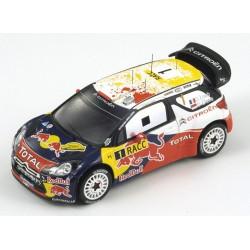 SPARK S3323 CITROEN DS3 WRC ESPAGNE 2011 N°1 S.LOEBS