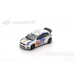 SPARK 87S138 VOLKSWAGEN Polo R WRC N°1 Vainqueur Monte Carlo 2014- S.Ogier- J. Ingrassia