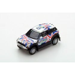 TRUESCALE TSM430238 MINI All4 Racing N°323 X-raid Team Hunt-Schulz 10ème Rallye Dakar 2016