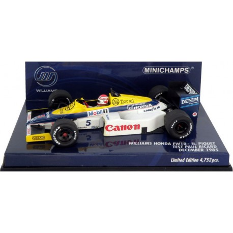 MINICHAMPS 400850105 WILLIAMS FW10 1985 N°5 PIQUET  1.43