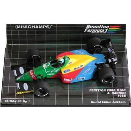 MINICHAMPS 400880019 BENETTON FORD B188 NANNINI 1988 1.43
