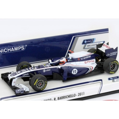 MINICHAMPS 410110011 WILLIAMS COSWORTH FW23 F1 2011 BARRICHELLO 1.43
