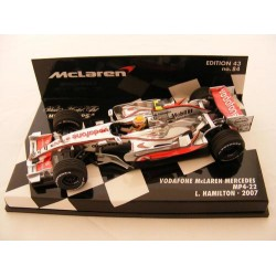 MINICHAMPS 530074302 Mc LAREN MP4-22 F1 07 No2 HAMILTON 1.43