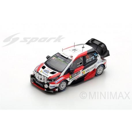 SPARK S5165 TOYOTA Yaris WRC N°10 Vainqueur Rally Suède 2017- J.-M. Latvala- M. Anttila