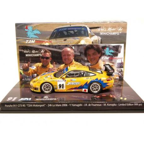 MINICHAMPS 403066991 PORSCHE 911 GT3 N°91 24H LE MANS 2006 1.43