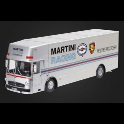 SCHUCO 450032100 MERCEDES BENZ O317 TRANSPORTEUR CCOMPETITION MARTINI RACING ARGENT 1:18