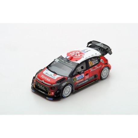 SPARK S5969 CITROEN C3 WRC N°11 Rallye Tour de Corse 2018 S. Loeb - D. Elena