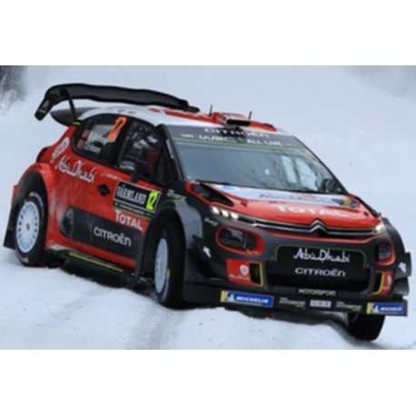 SPARK S5965 CITROEN C3 WRC N°12 Rallye Suède 2018 M. Ostberg - T. Eriksen