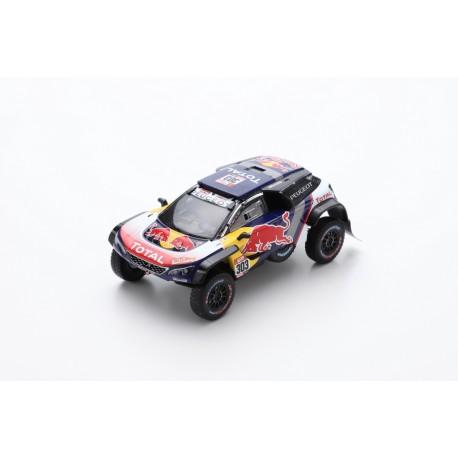 SPARK S5622 PEUGEOT 3008 DKR Maxi N°303 - Team Peugeot Total - Vainqueur Dakar 2018 C. Sainz - L. Cruz