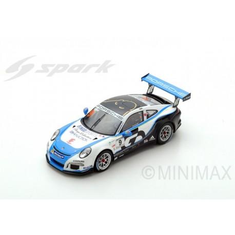 SPARK SJ057 PORSCHE 911 GT3 Cup N°9 Porsche Carrera Cup Japan Champion 2017 Shinji Takei