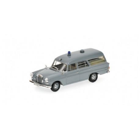 MINICHAMPS 400037270 MERCEDES-BENZ 190 AMBULANCE DRK 1961 GRISE 1.43