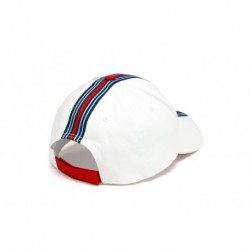 1202010200 CASQUETTE Martini Racing ligne racing milieu Blanche