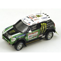 TRUESCALE TSM144345 MINI Countryman All4 Racing n° 302 1er Dakar 2012