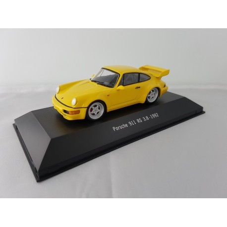7114016 PORSCHE 911 RS 3.8 (964) 1992 Jaune 1/43 Porsche Collection
