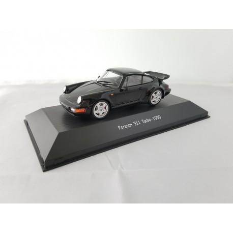 7114025 PORSCHE 911 TURBO (964) 1990 Noire 1/43