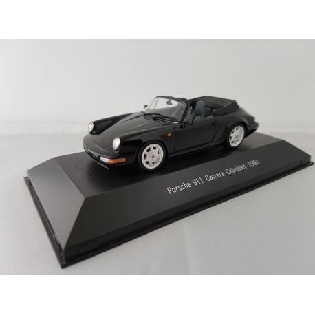 7114028 PORSCHE 911 CARRERA 2 CABRIOLET (964) 1991 Noire 1/43 Porsche Collection