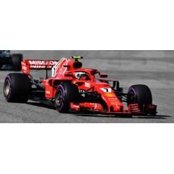 LOOKSMART LS18F1018 FERRARI SF7 1H N°7 Vainqueur GP US 2018 Kimi Räikkönen