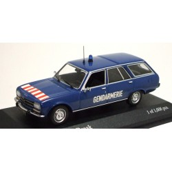 MINICHAMPS 400112590 PEUGEOT 504 BREAK 1975 GENDARMERIE 1.43