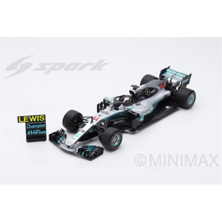 SPARK 18S355 MERCEDES-AMG Petronas Motorsports N°44 GP Mexique 2018 F1 W09 EQ Power+ Lewis Hamilton 2018 Champion du monde 2018