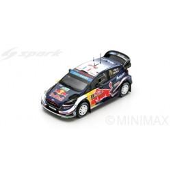 SPARK S5972 FORD Fiesta WRC N°1 Vainqueur Rallye Grande Bretagne 2018 S. Ogier - J. Ingrassia
