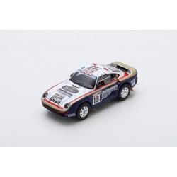 SPARK S7815 PORSCHE 959 N°186 Vainqueur Rallye Paris Dakar 1986 R. Metge - D. Lemoine
