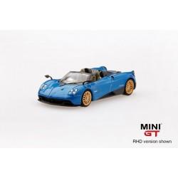 MINI GT MGT00038-L PAGANI Huayra Roadster Blue Francia LHD