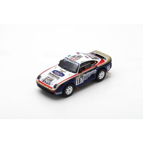 SPARK S7816 PORSCHE 959 N°187 Paris-Dakar 1986 R. Kussmaul - W. Unger