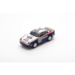 SPARK S7818 PORSCHE 959 N°186 Paris Dakar 1985 R. Metge - D. Lemoine