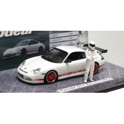 MINICHAMPS 519436200 PORSCHE 911 996 GT3 RS BLANC + STIG TOP GEAR 1.43