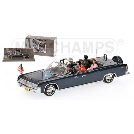 MINICHAMPS 436086102 LINCOLN CONTINENTAL KENNEDY BERLIN 1.43