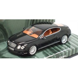 MINICHAMPS 436139600 BENTLEY CONTINENTAL GT NOIR 2008 1.43
