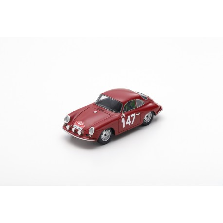 SPARK S6600 PORSCHE 356 B 2000 Carrera 2 GS-GT N°147 Rallye Monte Carlo 1964 R. Buchet - M. Gauvin