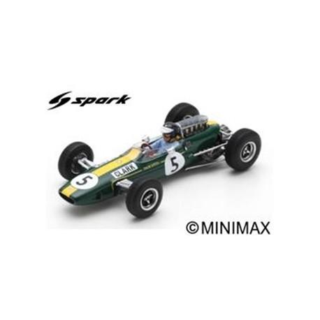 SPARK S7132 LOTUS 33 N°5 Vainqueur GP Angleterre 1965 Jim Clark