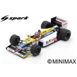 SPARK S7481 WILLIAMS FW11 N°5 Vainqueur GP Belgique 1986 Nigel Mansell