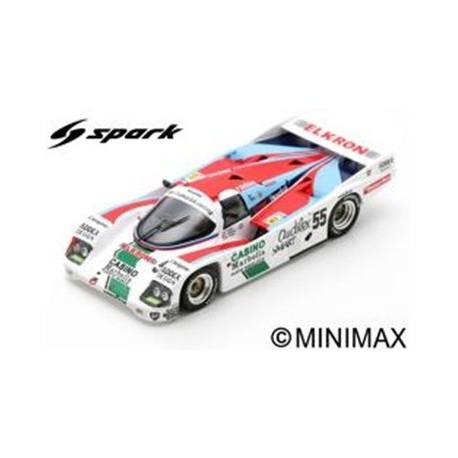 SPARK S7510 PORSCHE 962C N°55 24H Le Mans 1986 P. Alliot - P. Romero - M. Trollé