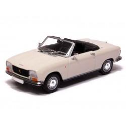 MINICHAMPS 400112731 Peugeot 304 cabriolet 1972 blanc 1.43