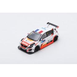 SPARK SA179 PEUGEOT 308 TCR N°7 DG Sport Competition Race 2 WTCR Macau Grand Prix 2018- Aurélien Comte (300 ex)