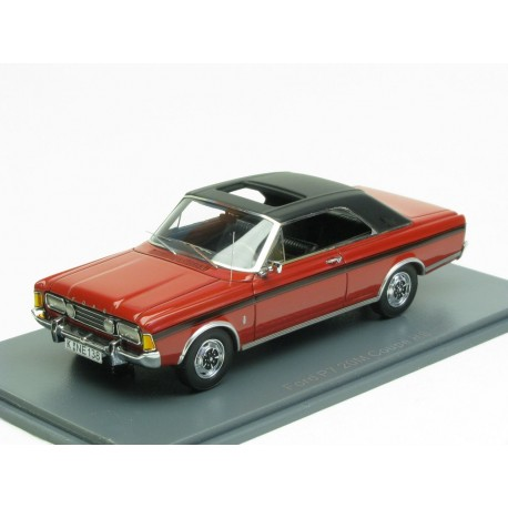 NEO NEO43138 FORD TAUNUS P7 COUPE 20M 1971 ROUGE/NOIR 1.43