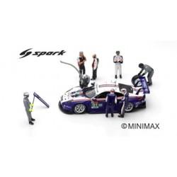 SPARK 43AC012 Set 8 Figurines - Porsche 911 RSR N°91 Le Mans 2018-