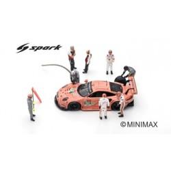 SPARK 43AC013 Set 8 Figurines - Porsche 911 RSR N°92 Le Mans 2018-