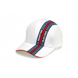 1202010300 CASQUETTE Martini Racing ligne racing coté Blanche