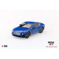MINI GT MGT00094-L BENTLEY Continental GT 2018 Bleu Sequin LHD