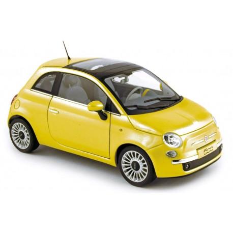 NOREV 187741 FIAT 500 2007 JAUNE 1.18