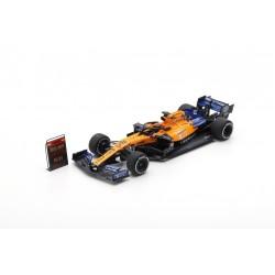 SPARK S6050 MCLAREN MCL34 N°55 GP USA 2019- 100ème GP F1 McLaren F1- Carlos Sainz Jr avec Pit Board