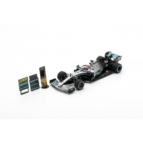 SPARK S6099 MERCEDES-AMG F1 W10 EQ Power+ N°44 2ème GP USA 2019- Pilote Champion Lewis Hamilton - Base spéciale avec Pit Board