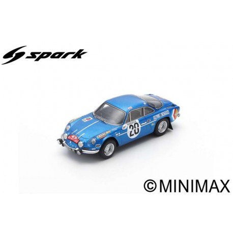 SPARK S6104 ALPINE A110 No.28 Winner Monte Carlo Rally 1971-O. Andersson - D. Stone