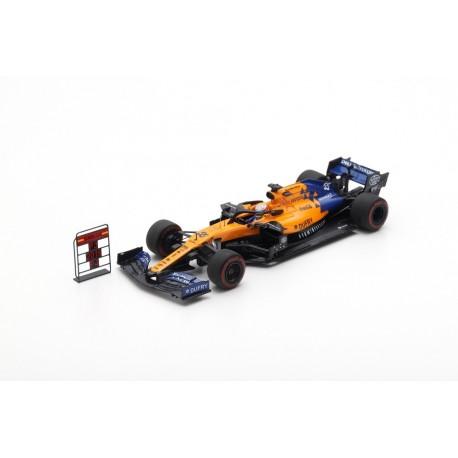 SPARK S6048 MCLAREN MCL34 N°55 3ème GP Brésil 2019 Mclaren F1 TeamCarlos Sainz Jr. avec Pit Board 1.43