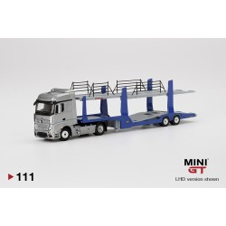 MINI GT MGT000111-L MERCEDES-BENZ Actros With Car Carrier Trailer (avec remorque voiture) 1.64