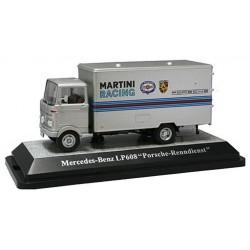"""PREMIUM 12502 MERCEDES LP608 """"PORSCHE MARTINI"""" SILVER 1.43"""
