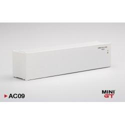 "MINIGT AC09 Container 40' BLANC"" (1/64)"